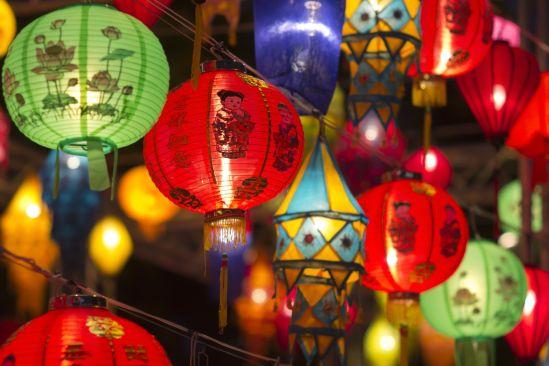 21930423 - asian lanterns in lantern festival